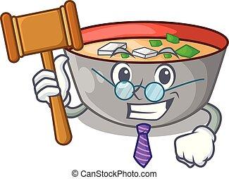 miso, repas, soupe, délicieux, juge, dessin animé