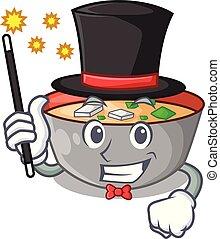 miso, repas, soupe, délicieux, magicien, dessin animé