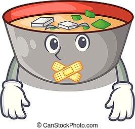 miso, silencieux, dessin animé, soupe, délicieux, repas
