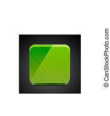 mobile, app, |, conception, bouton, vide, icône