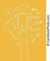 mobile, app, education, illustration, main