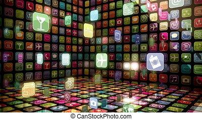 mobile, app, vitrine