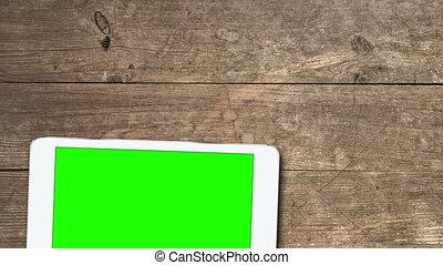 mobile, appareils, greenscreen