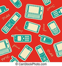 mobile, appareils, seamless, fond