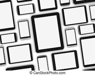 mobile, appareils, vide