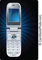 mobile, cellule, vecteur, téléphone