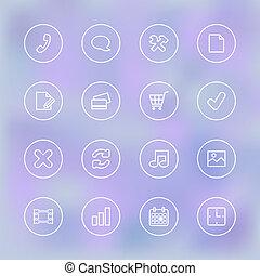 mobile, clair, ui, transparent, iconset, app