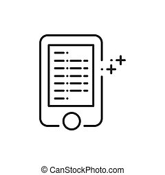 mobile, commercialisation, annonce, icônes
