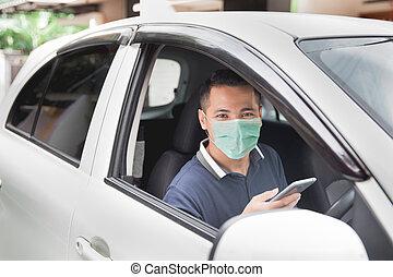 mobile, conduite, quoique, téléphone
