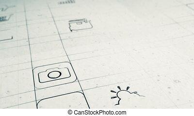 mobile, développement, app, concept