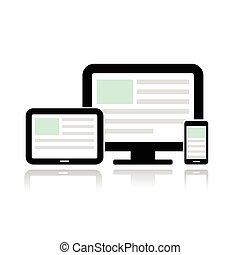 mobile, exposer, informatique, téléphone., tablette
