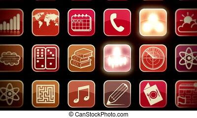 mobile, mur, apps, bourdonnez dehors