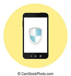 mobile, personnel, protection, données