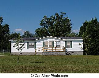 mobile, résidentiel, single-wide, maison
