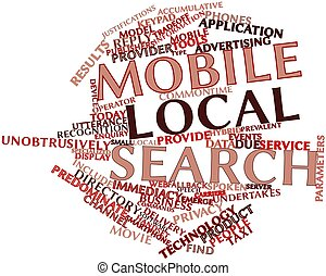 mobile, recherche, local