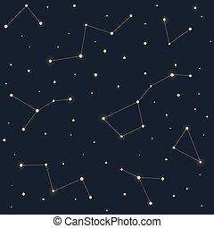 modèle, étoiles, constellations