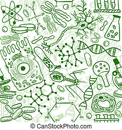 modèle, biologie, seamless