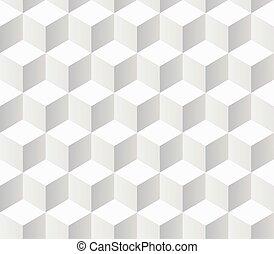 modèle, blanc, géométrique, échantillons