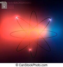 modèle, briller, atome