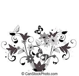 modèle, buisson, fleur