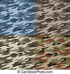 modèle, camouflage, seamless