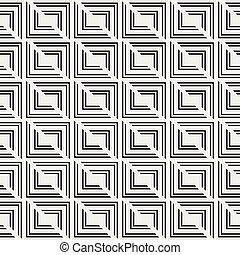 modèle, carrés, seamless