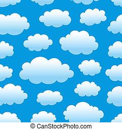 modèle, ciel, nuageux
