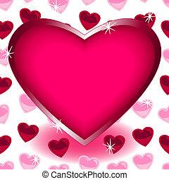 modèle coeur, sur, seamless, forme, grand