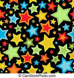 modèle, coloré, étoiles, seamless