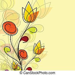 modèle, coloré, résumé, fleur, printemps