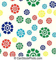 modèle, coloré, seamless, mignon, floral