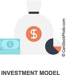 modèle, concept, investissement, icône