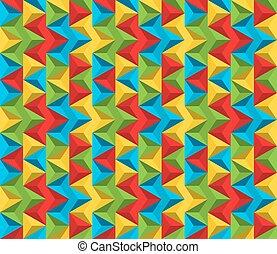 modèle, couleurs, seamless, fait, triangles, résumé, vif