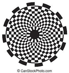 modèle, damier, conception, spirale