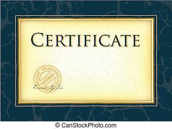 modèle, diplôme, certificat