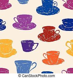 modèle, divers, teacups
