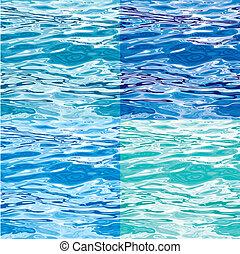 modèle eau, variations, seamless, surface
