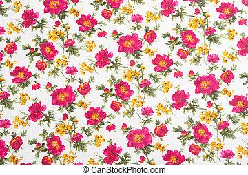 modèle fleur, bouquet., seamless, cloth., floral
