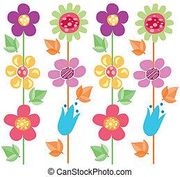 modèle, fleurs, 2