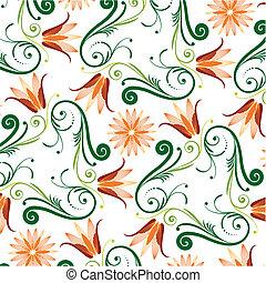 modèle floral, fond blanc