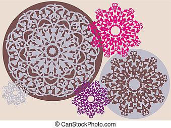 modèle floral, kaléidoscopique