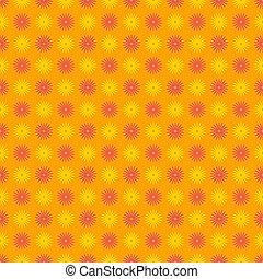 modèle floral, seamless, coloré, heureux