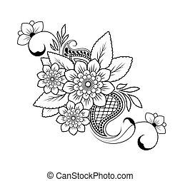 modèle, fond, vecteur, fleur, blanc