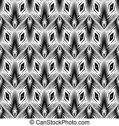 modèle géométrique, monochrome, conception, seamless