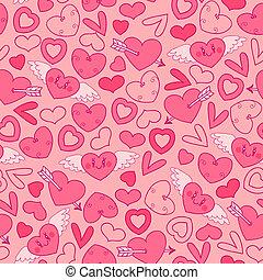 modèle, hearts., seamless