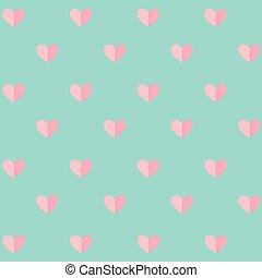 modèle, jour valentine, fond, cœurs