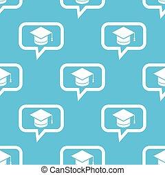 modèle, message, remise de diplomes