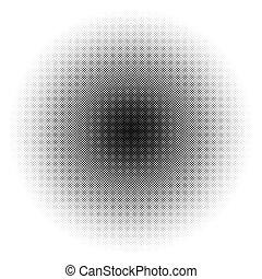 /, modèle, monochrome, cercle, dots., texture., halftone