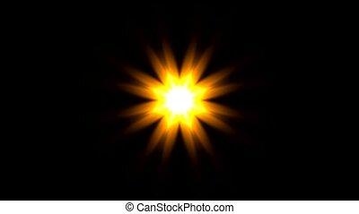 modèle, or, fleur, ou, lumière soleil