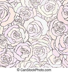 modèle, pastel, seamless, doux, roses, couleurs, rose, beau